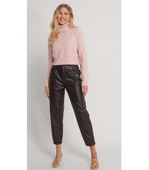 trendyol stickad tröja - pink