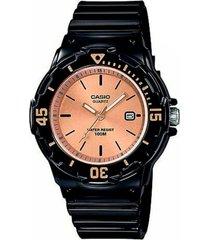 reloj casio lrw 200h 9e2 para dama negro/cobre original