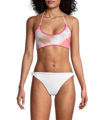 bcbgeneration women's reversible bralette bikini top - coral - size l