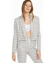 danielle bernstein plaid cropped jacket, created for macy's
