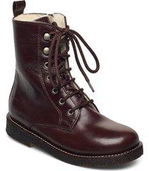 boots - flat - with lace and zip känga stövel brun angulus
