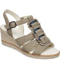 sling sandals sandalette med klack espadrilles vit gabor