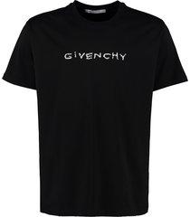 givenchy logo print cotton t-shirt