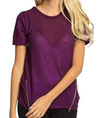 broadway paars shirt met glans