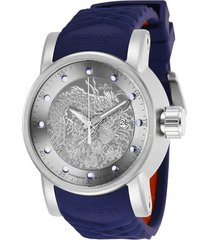 reloj invicta 28170 azul rojo silicona