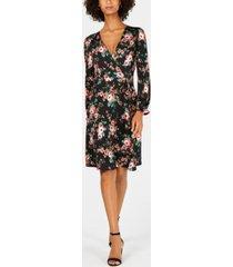 monteau petite floral fit & flare dress