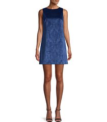 clyde damask a-line shift dress