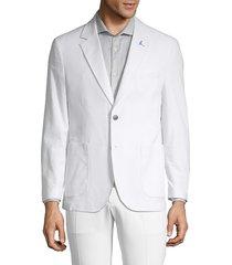 tailorbyrd men's seersucker sport jacket - powder blue - size 40 l