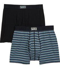 men's saxx ultra 2-pack boxer briefs, size x-large - blue