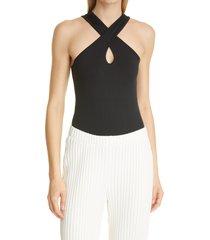 women's simon miller keao bodysuit, size x-small/small - black