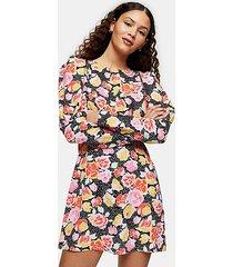 pastel print mini dress - multi
