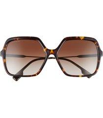 burberry 59mm square sunglasses in dark havana/brown gradient at nordstrom