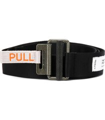 heron preston woven logo belt - black