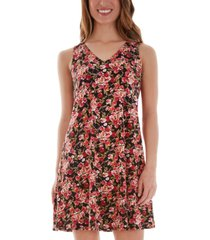 bcx juniors' floral-print lace-up-back dress