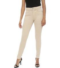 pantalón colcci beige - calce ajustado