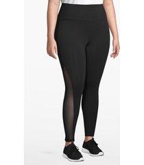 lane bryant women's active 7/8 legging - mesh inset 14/16 black