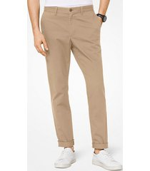 mk pantalone chino slim-fit in twill di cotone - cachi (naturale) - michael kors