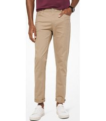 pantalone chino slim-fit in twill di cotone