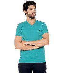 camiseta azul aguamarina nautica