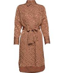 rauliw shirt dress jurk knielengte bruin inwear