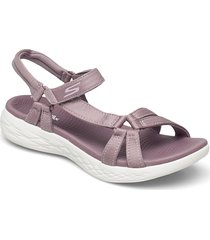 womens on-the-go 600 - brilliancy shoes summer shoes flat sandals lila skechers