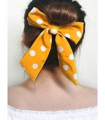 bowknot ribbon dot pattern hair tie