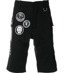 ktz scout patches military shorts - black