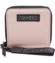 billetera mini wallet rosada yambo bags
