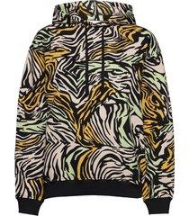 adrisa, 1093 tracksuit zebra hoodie trui zwart stine goya