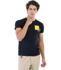 camiseta azul navy manpotsherd wolf