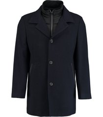 bos bright blue geke coat herringbone 18301ge08sb/290 navy