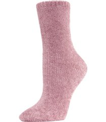 velour luxe women's crew socks