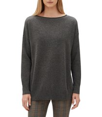 women's lafayette 148 new york relaxed cashmere sweater, size xx-large - black