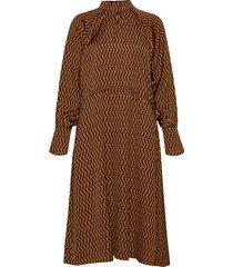 paulineiw dress maxiklänning festklänning brun inwear
