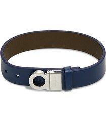 salvatore ferragamo women's leather buckle cuff bracelet