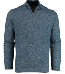 baileys pullover blauw met ritsje 208411/935