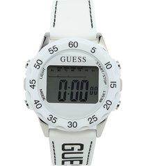 reloj blanco-negro guess