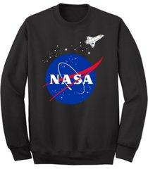 men's nasa spaceship crew fleece sweatshirt