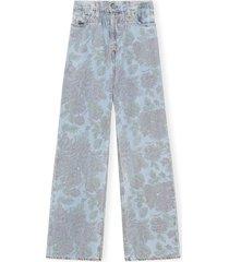 levi's printed jeans in light indigo