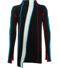 ambush mock neck ribbed sweater - black