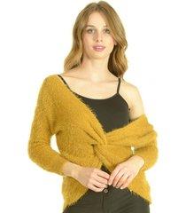 sweater nudo mostaza bou's