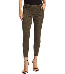 joie women's leopard print skinny pants - french army - size 24 (0)