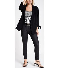 river island womens petite black coated molly mid rise jeggings