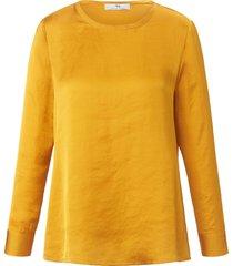shirt met lange mouwen en ronde hals van peter hahn geel