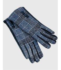 guantes  lanilla príncipe de gales gris viva felicia