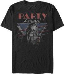 star wars men's classic chewbacca party animal short sleeve t-shirt