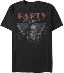 star wars men's classic chewbacca party animal short sleeve t-shirt