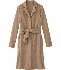 wollen jersey mantel met bio-merinowol, camel 40