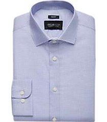 awearness kenneth cole blue print slim fit dress shirt
