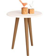 mesa lateral estilo retrô off-white móveis bechara